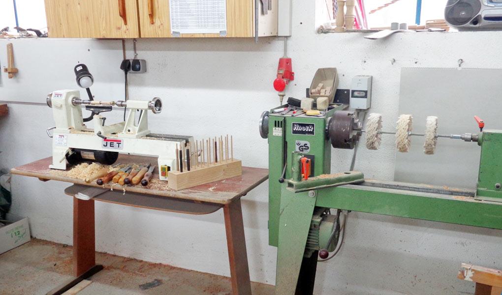 Drechselbänke Veredelung Holz Schwäbische Alb